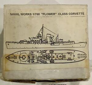 "Naval Works 1/700 Scale ""FLOWER"" Class Corvette Ship Model Kit. Sealed Parts"