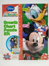 Disney Mickey Mouse Clubhouse Growth Chart Puzzle Kit New Donald Pluto Goofy