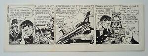 Frank Robbins Johnny Hazard 10/1/1975 Original Art Ink Comic Strip Signed