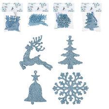 Glaçon Blue Tree Decorations - Christmas - Set of 32 - Bell Reindeer Snowflake