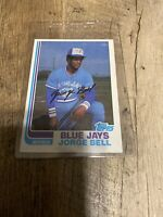 1982 Topps Jorge George Bell RC Rookie Baseball Card #254 Blue Jays