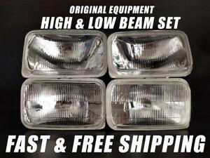 OE Fit Headlight Bulb For Chevrolet K1500 1988-1991 Pickup Low & High Beam x4