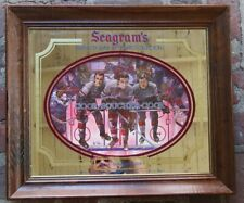 Vtg SEAGRAMS 7 Crowns of Sports MIRROR, NY RANGERS Sign COOK-BOUCHER-COOK Hockey