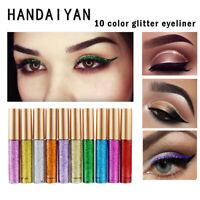 les paillettes eyeliner liquide maquillage brillant eye liner pen métalliques SE
