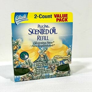 Glade Plugins Scented Oil Refills GLISTENING SNOW Fragrance x 2