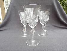 6 verres à eau en cristal de Bayel modèle taillé type chantilly signé
