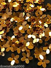 Sequins Flower Italian Gold Metallic 10mm Daisy Rare Read Description