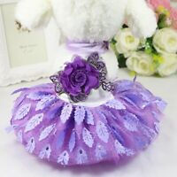 Pet Dog Lace Princess Tutu Dress Skirt Puppy Flower Clothes Apparel Costume Cute