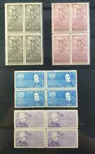 BRAZIL 4 BLOCKs STAMPS-  REVOLUÇÃO DOS FARRAPOS- 1935- C-91/94 - MNH/MH