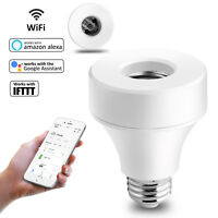 E27 / E26 WiFi Smart Light Bulb Socket Lamp Adapter Works With Google Home Alexa