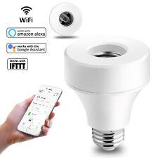 E27/ E26 Smart WiFi Bulb Light Socket Adapter Works With Amazon Alexa Remote APP