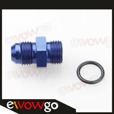 Aluminum -10 AN 10AN Male Flare To -10AN AN10 Straight Cut O-Ring Fitting Blue