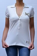 POLO FRANKIE MORELLO DONNA WOMAN ПОЛО ЖЕНСКОЕ, F201 4200 BIANCO MIS.XS PP 09 nva