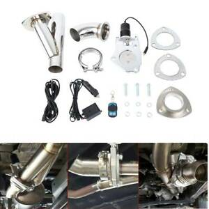 2''/ 51mm  Electric Exhaust Valve Catback Downpipe Systems Kit w/ Remote Control