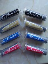 SUZUKI BANDIT GSF 600 / 650 / 1200 / 1250 LOGO GRIPS RED, BLACK, GOLD, OR BLUE