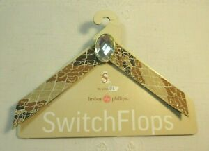 Lindsay Phillips SwitchFlops 5-6 Small Interchangeable Straps Brown Multicolor