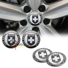 4PCS 56.5mm Black HRE PERFORMANCE Aluminum Wheel Center Hub Cap Emblems Stickers