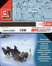 SCHEDA TELEFONICA _ PAESE CHE VAI ... SVIZZERA - C&C 3608 GOLDEN 1533 - USATA