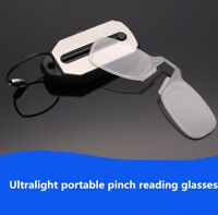 Portable Reading glasses card key ring clip on nose for reader SOS wallet