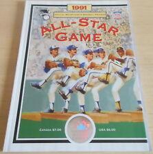 1991 All-Star Game Souvenir Program Toronto (SC) Baseball MLB