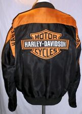 Nice Men's Harley Davidson Jacket Full Zip Orange/Black Nylon 97068-00V LARGE