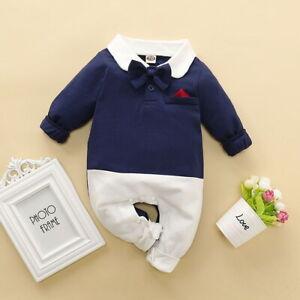 Kleinkind Baby Boy Gentleman Kleidung Strampler Jumpsuit Kleidung Outfit