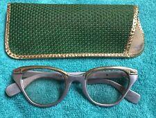 Vintage TURA INC Eyeglasses Silver Aluminum Gold Glasses Frames Cat Eye