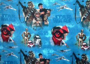 Star Wars - Rey, Finn, BB-8, Chewbacca, Ships, Logo & More Fleece Throw New
