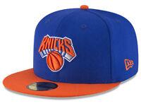 New York Knicks Blue Orange Glow In The Dark NBA New Era 59Fifty Fitted Hat Cap