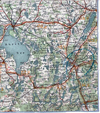Waren Müritz Neustrelitz Penzlin 1914 orig. Teilkarte/Ln. Fürstenberg Wesenberg