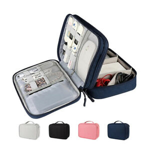Portable USB Cable Organizer Bag Travel Digital Gadgets Charger Storage Case Bag