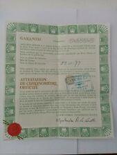 ROLEX DATEJUST Certificate Garantie Warranty GUARANTEE 6824 Mid Size Year 80' S