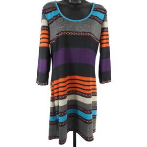 Derek Hearts Multi-Color Long Sleeve Dress Junior's Size XL