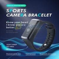 Mini HD 1080P Smart Bracelet Hidden Camera Wristband Video Recorder Watch DVR