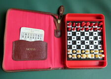 Vintage Travel Chess Set 1970s/ 80s, Leather Case