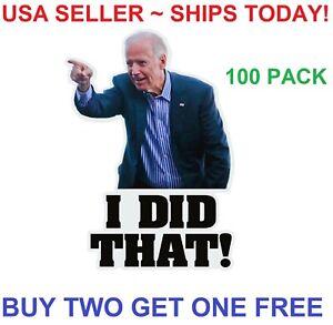 100pcs Joe Biden I DID THAT Sticker Funny Humor Sticker Decal Gas Pump Oil Price