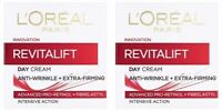 2 x L'oreal Revitalift Anti-Wrinkle + Extra Firming Day Cream (2x50ml)