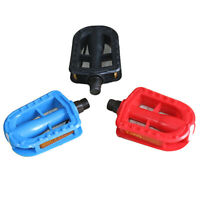 Kids Bike Pedals In Black Red Blue 13.7MM Thread Childrens Bicycle I6Y9A