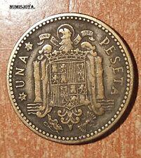 FRANCO moneda de 1 Peseta año 1947*1956. FECHA RARA CIRCULADA. Peso 3,37 gr.