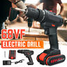 1x68VF Cordless Drill Electric Impact Wrench Screw Unscrew Lithium Wood