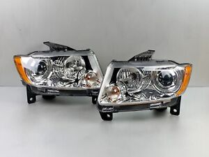 Complete 11 12 13 Jeep Grand Cherokee Left+Right  Xenon HID Headlight Pair OEM