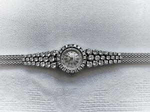 Longines Damen Armbanduhr 750 Weißgold 2,84 ct Diamanten Brillanten ZERTIFIKAT!