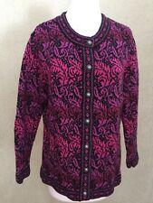 SUPER! Nomadic Traders Womens Sz L Repeat Pattern Knit Cardigan Sweater