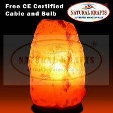 2 x Mineral Salt Rock Lamp 12-15 KG Including Free UK Cable and Bulb