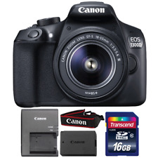Canon EOS 1300D/T6 18MP DSLR Camera with 18-55mm III Lens and 16GB Memory Card