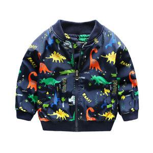 Toddler Baby Dinosaur Outerwear Coat Boys&Girls Children Zipper Jacket Clothes