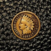 1863 Indian Head Cent ~ GOOD (GD) Cndtn ~ $20 ORDERS SHIP FREE!