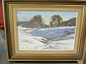 Robyn Collier Original Oil Painting Snow Gums - Perisher 1978