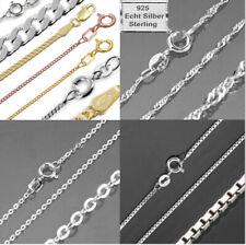 925 Silber Kinder Kette Halskette Venezianer 36 cm Länge Silberkette 0,9 mm F227