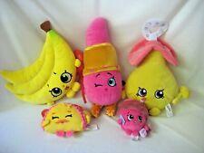Shopkins Plush Lot of 5 Lipstick Pacifier Bananas Taco Cupcake Soft & Clean
